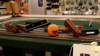 The Stupid Orange In Train Crash At The Hobby Store