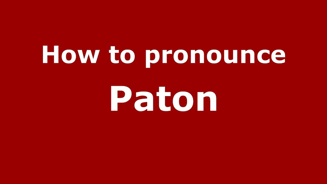paton name meaning