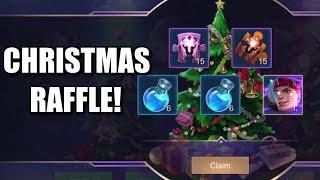 TIME FOR THE CHRISTMAS RAFFLE!