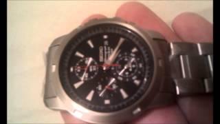 Seiko titanium Cronograph Alarm