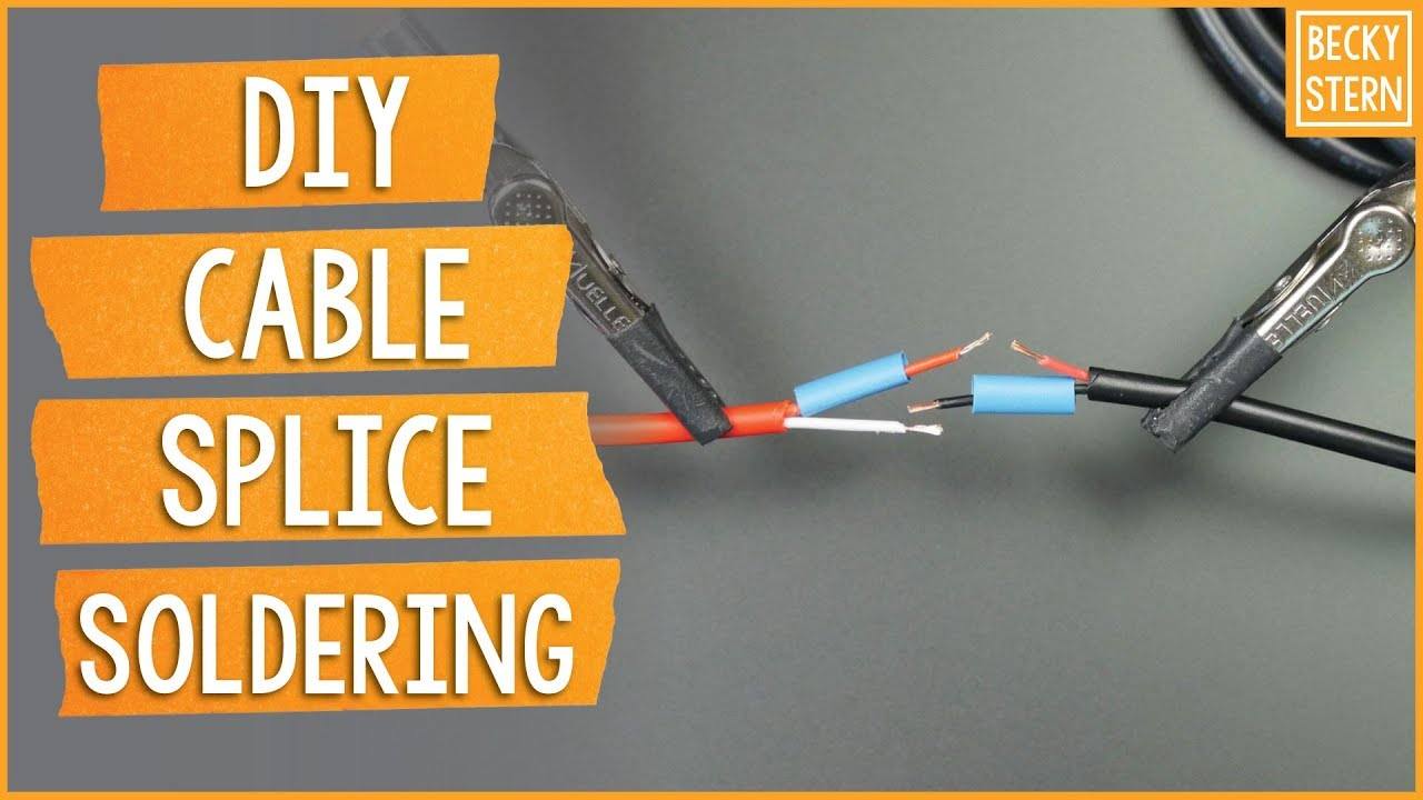 Super Clean Cable Splicing // Becky Stern - YouTube