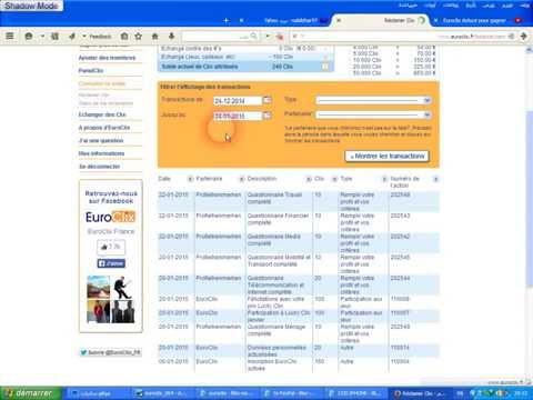 كيف تربح 1.95اورو لشخص واحد احالة euroclix افضله من احسن المواقع