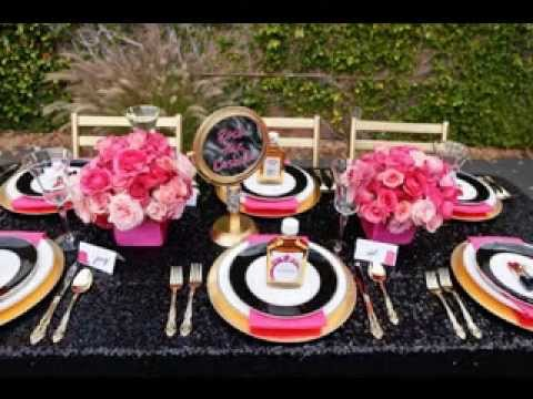 DIY Pink and black wedding party ideas - YouTube