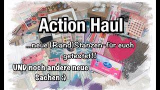 Action Haul (deutsch) neue Stanzen (getestet) weitere neue Sachen, Scrapbook basteln mit Papier, DIY