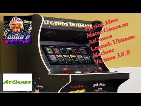 Playing MORE MAME Games On AtGames Legends Ultimate Arcade Cabinet