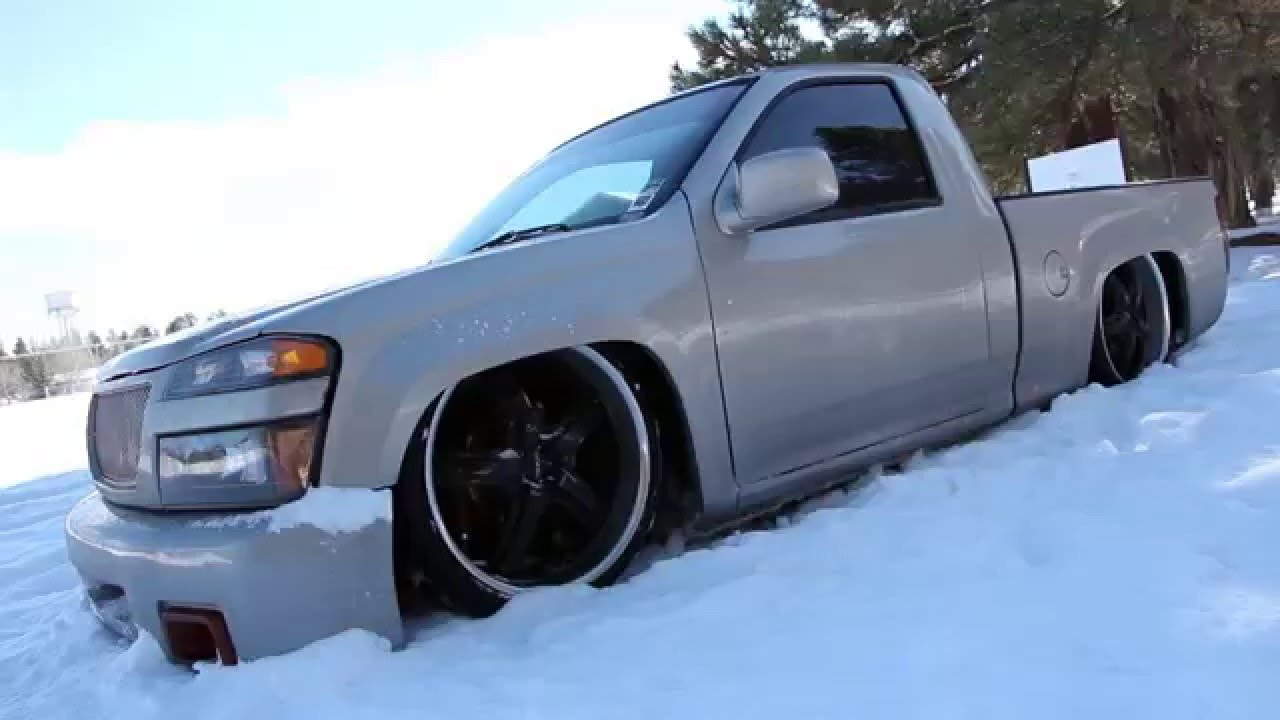 Bagged Chevy Colorado Laid Out In The Snow Youtube