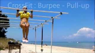 CrossFit: Awesome Burpees - Pull-Ups Workout on Bars | How to build Strong Body
