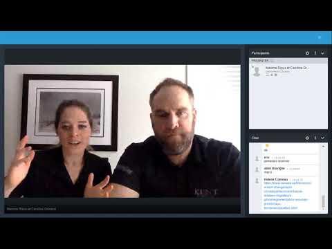 Maxime Rioux et Caroline Grimard en Conférence au Salon Virtuel de la Pourvoirie.