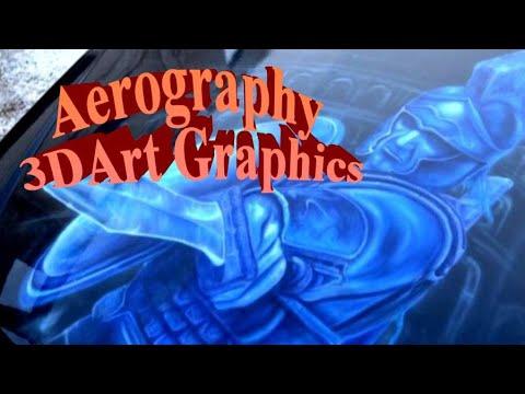 Тюнинг Аэрография 3д-наклейка автомобиль спорткар грузовик Aerography 3D Art Grafica (HD)