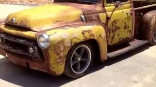1956 international rat Rod patina new chassis
