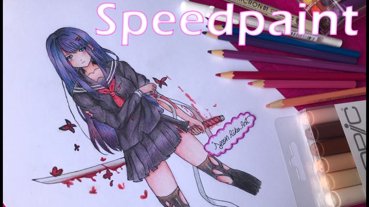 speedpaint - kisara tendo black bullet - [jeonaiko] - youtube