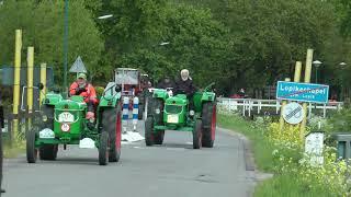oldtimers oude antieke trekkers tractoren van uit Polsbroek gefilmd in Lopikerkapel 4-5-2019