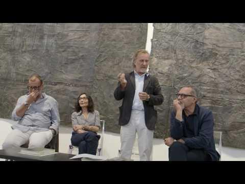 "Luca Beatrice alla presentazione di: ""Luca Pignatelli - Opere su carta"", M77 Gallery, 29/06/2017"