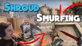 SHROUD SMURFING IN MATCHMAKING WITH SILVERS (ft. just9n)