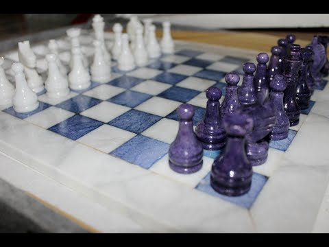 *Whisper* Marble Chess Set/Tapping *ASMR*