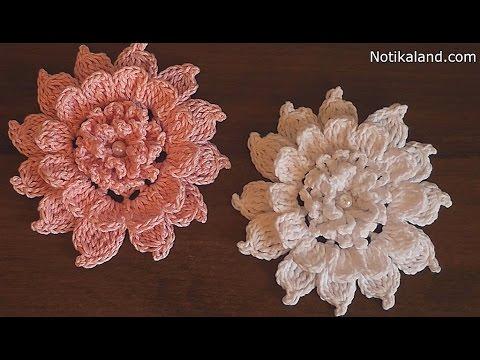 Crochet Flower How To Crochet Flower Tutorial Youtube