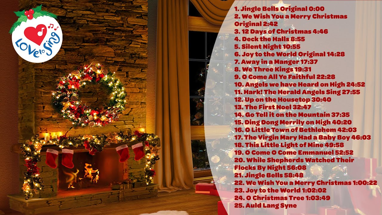 🎄 25 Top Christmas Songs and Carols Playlist with a Fireplace 🔥 Merry Christmas 🎅 2020