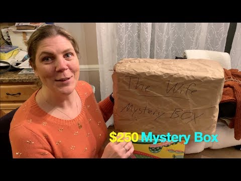 THE WIFE Opens Up a $250 MYSTERY BOX + Ultimate Surprise Unboxing