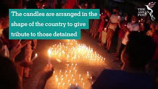 MYANMAR COUP: Protesters in the coastal city of Dawei held a candlelight vigil and prayers