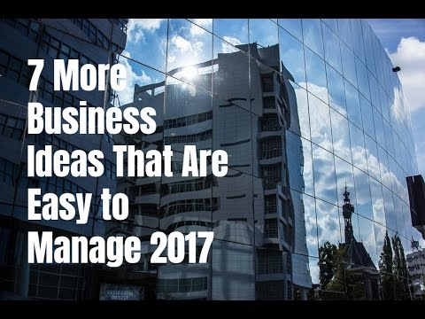 7 More Business Ideas That Are Easy to Manage 2017
