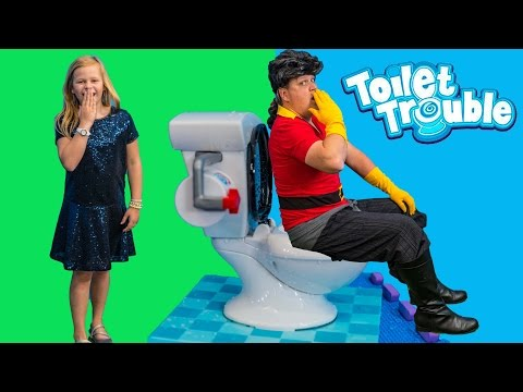 TOILET TROUBLE Assistant Plays Beauty and the Beast Gaston in Funny Game