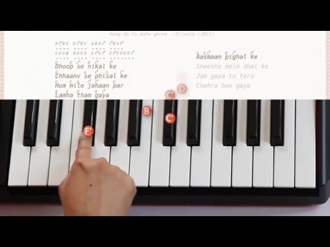 Gerua ( Dilwale) Piano tutorial with notes and lyrics