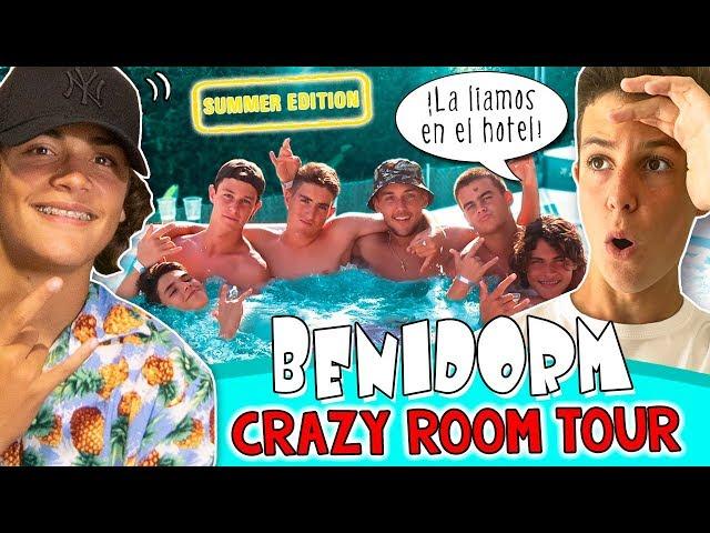 ROOM TOUR hotel BENIDORM 🏨 MATEO se va de VACACIONES con sus amigos #LOSXOBIS 🔥  24h en la PLAYA