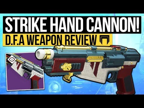 Destiny 2 | NEW STRIKE HAND CANNON! - The D.F.A Hand Cannon is a BEAST! (Nightfall Weapon Review)