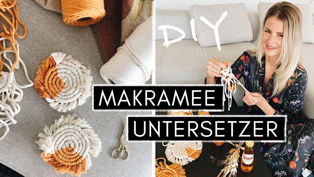 Boho Makramee Untersetzer knüpfen - Makramee für Anfänger   DIY Makramee Coaster