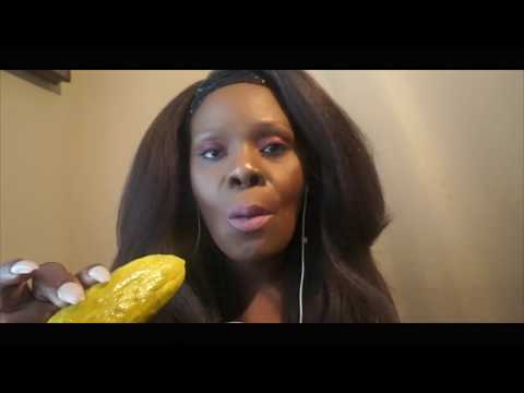 BIG CRUNCH   DILL Pickle ASMR Eating Sounds