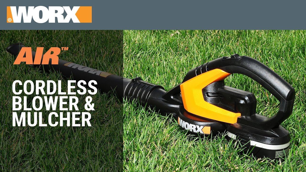 WORX AIR Cordless Blower Sweeper YouTube