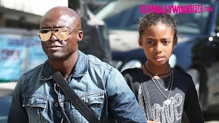 Seal Takes His Daughter Lou Samuel Out Shopping For Her Birthday At Barneys In Beverly Hills