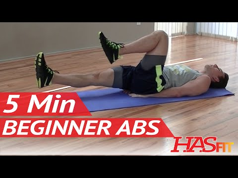 5 min beginner ab workout  hasfit easy core exercises