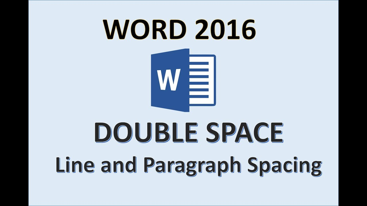 Double spacing in word for mac 2016 version