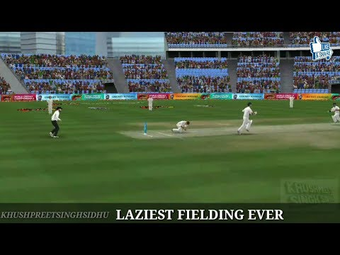 WCC2 Dumbest Fielder And Bowler Ever in Test Cricket LAZIEST FILEDER AND BOWLER Perfect run