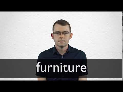 How to pronounce FURNITURE in British English
