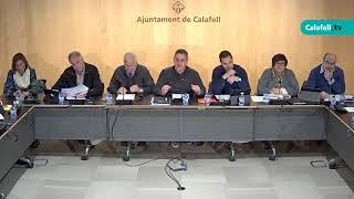 Ajuntament de Calafell: sessió plenària extraordinària, 16 de febrer de 2018