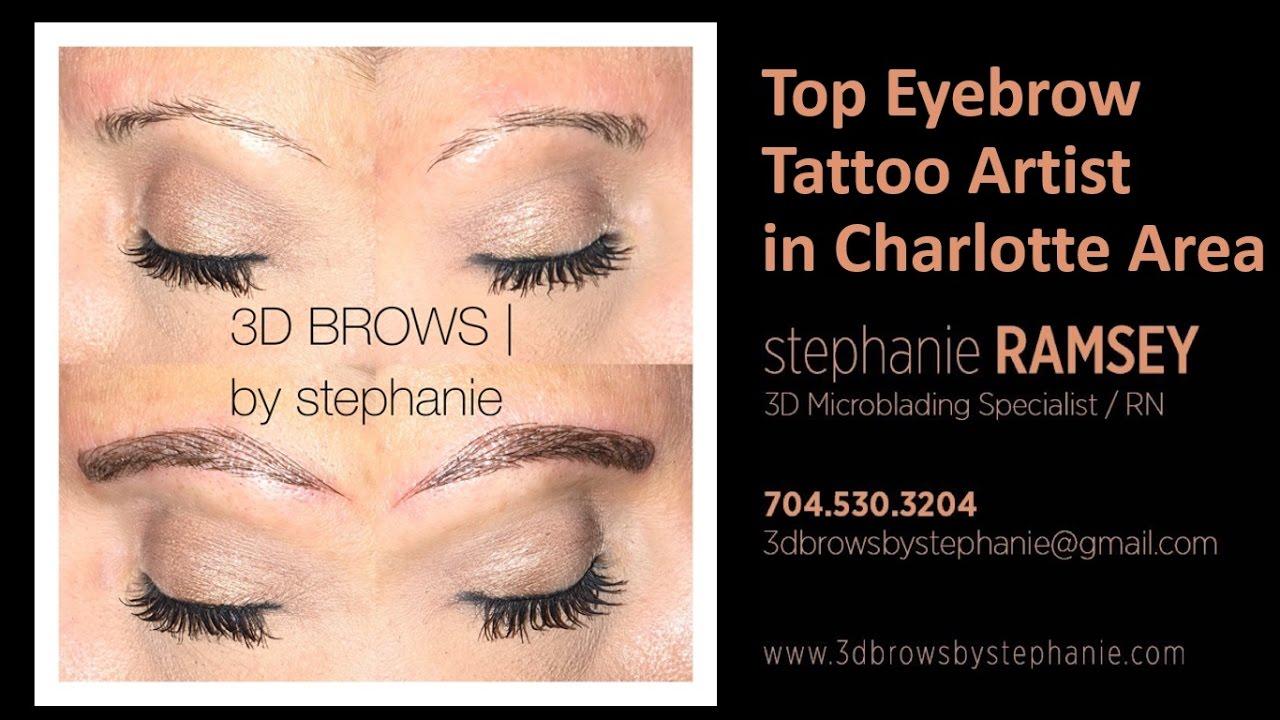Eyebrow Tattoo Artist Charlotte NC - YouTube