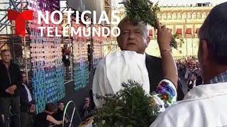 """AMLO recibe el """"Bastón de Mando"""" en un acto indígena   Notic…"""