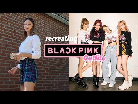 Recreating BLACKPINK Outfits With The Clothes I Have