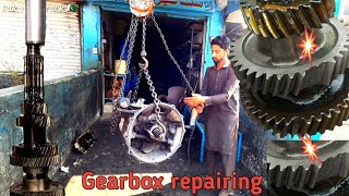 Gearbox repair with small tools &@Hydraulic press machine