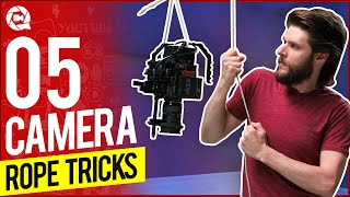 5 INSANE Camera Tricks using a ROPE!