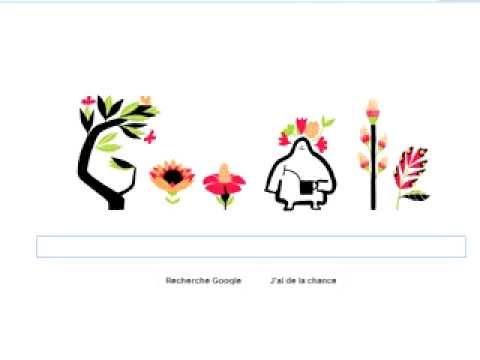 Quinoxe de printemps le doodle du premier jour du printemps by google youtube - 1er jour du printemps ...