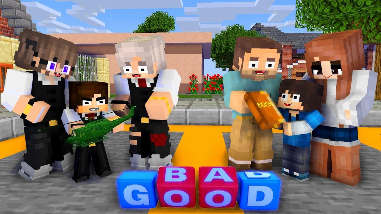 Monster School : Good Baby Parents vs Bad Baby Parents - Minecraft Animation