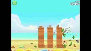 Angry Birds Rio Golden Beachball Level #1 Walkthrough