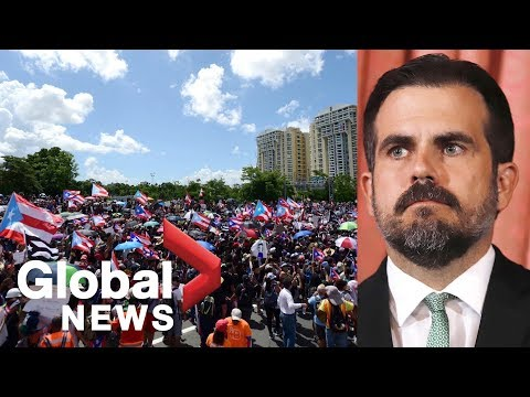 Protesters In Puerto Rico Call For Governor Ricardo Rosello To Step Down | FULL