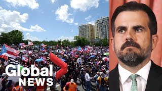 Protesters in Puerto Rico call for Governor Ricardo Rosello to step down | LIVE