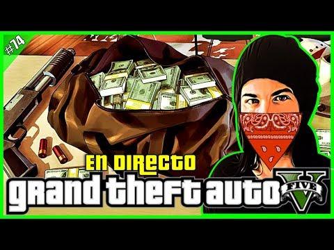 🔴[DIRECTO] GTA 5 ONLINE-GOLPES Y MINIJUEGOS CON SUBS! GTA V PS4 Gameplay Español #74