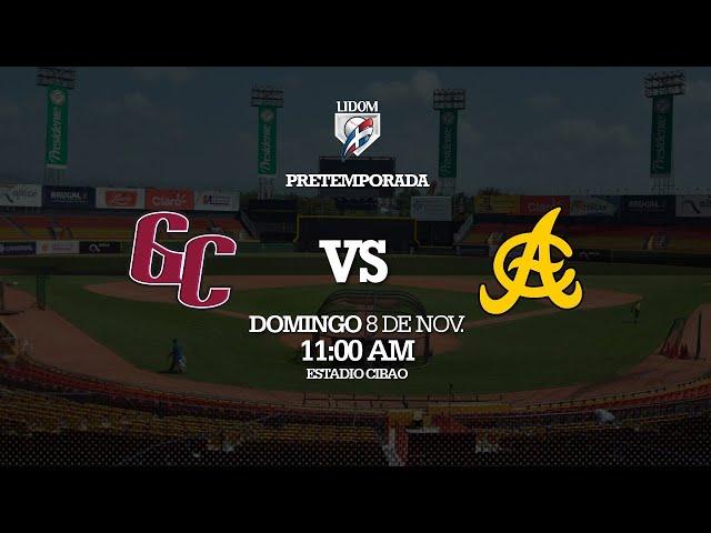 Pre-Temporada: Gigantes del Cibao vs Águilas Cibaeñas 08/11/2020