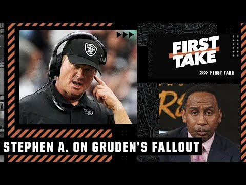 'What do you mean you didn't mean to hurt anybody?' - Stephen A. to Jon Gruden | First Take